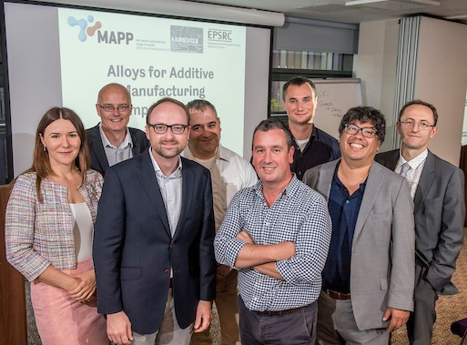 Alloys for Additive Manufacturing Symposium [AAMS2018] keynote speakers pictured with Iain Todd