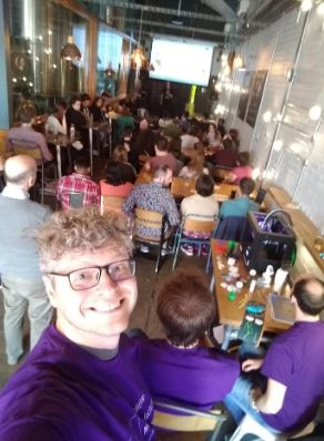Dr Bob Turner at a Pint of Science event in 2019 - Dr Bob Turner at a Pint of Science event in 2019