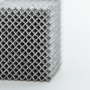 Regular lattice structure typically found in AM components. - Regular lattice structure produced using additive manufacturing] Regular lattice structure typically found in AM components.