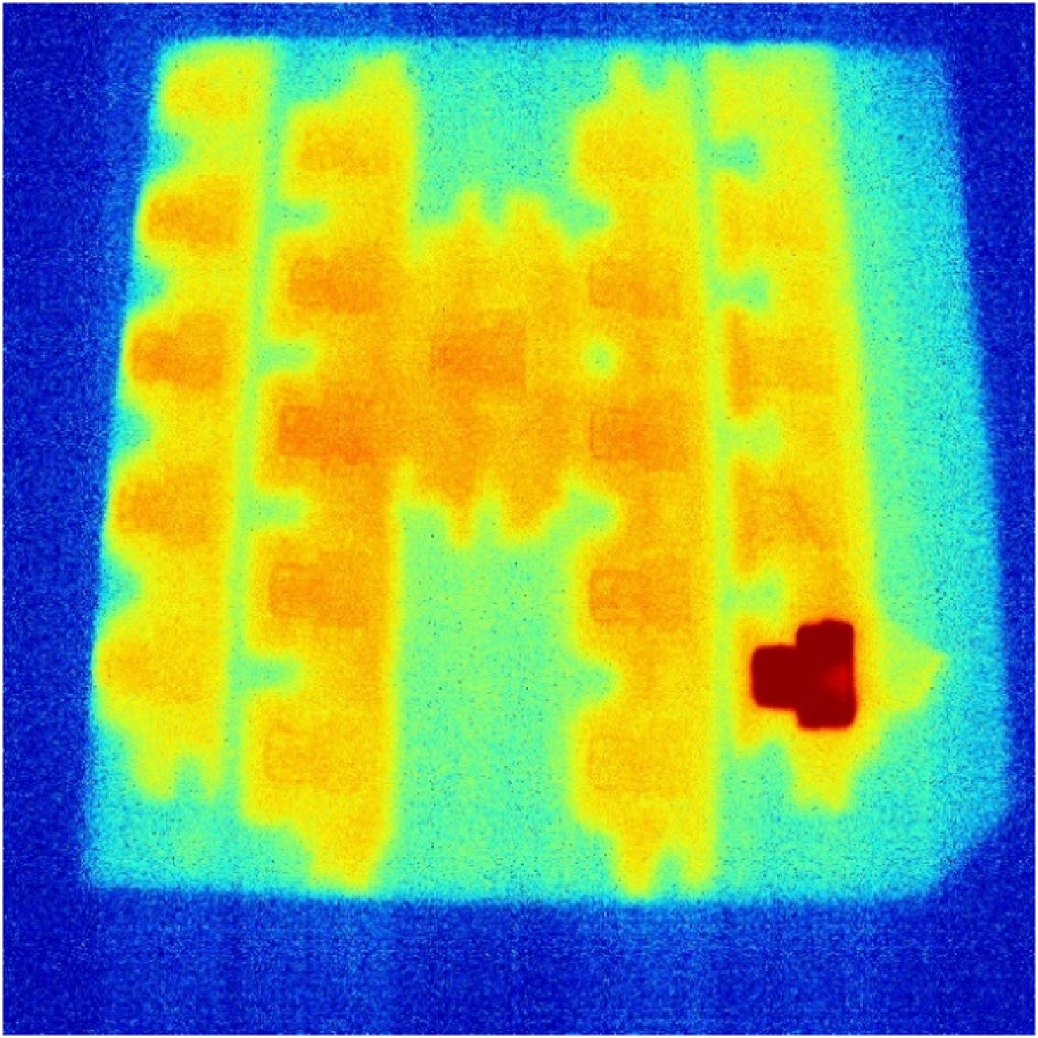 'T' Shaped test pieces showing the effect of residual heat from the previous layer. - 'T' Shaped test pieces showing the effect of residual heat from the previous layer.Boone, N., Zhu, C., Smith, C., Todd, I., Willmott, J.R., (2018). Thermal near infared monitoring system for electron beam melting with emissivity tracking. Additive Manufacturing. 22, 601-605.