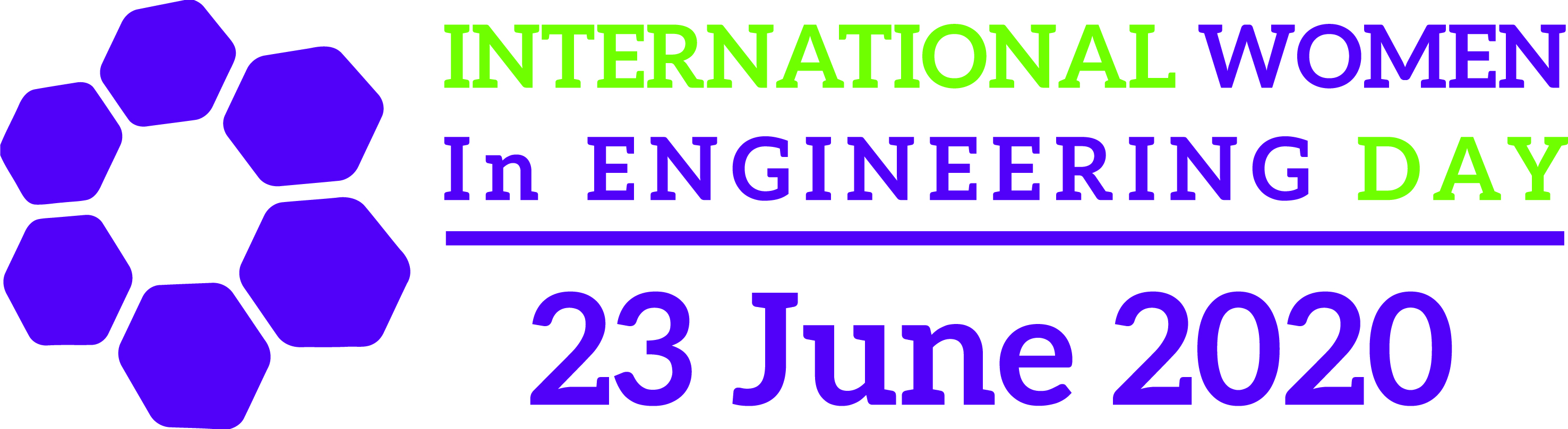 The logo representing International Women in Engineering Day (#INWED20) - A colour logo representing International Women in Engineering Day (#INWED20) which took place on 23 June 2020
