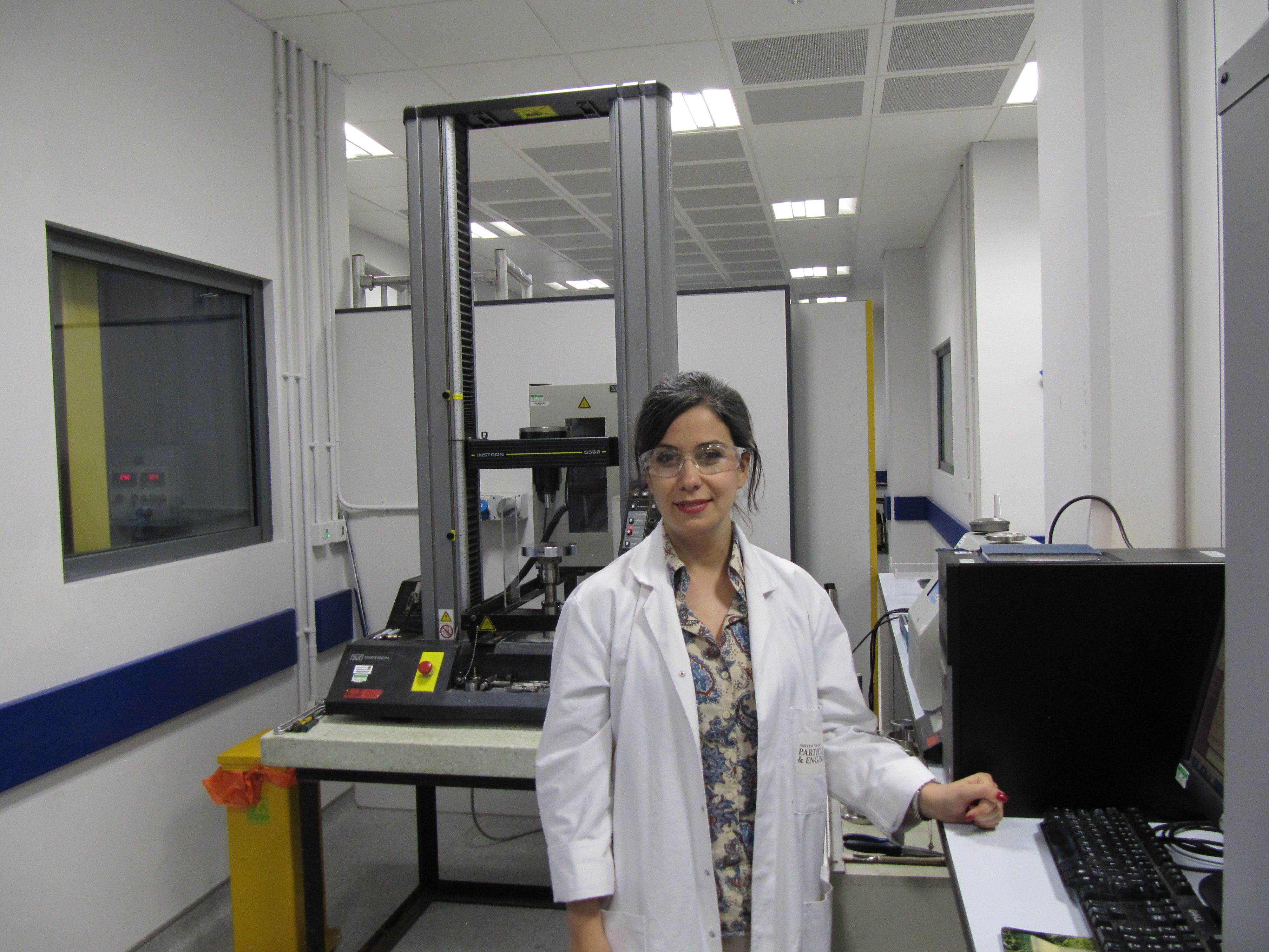 Mozhdeh Mehrabi, PhD Researcher, University of Leeds - Mozhdeh Mehrabi, PhD Researcher, University of Leeds, in the lab